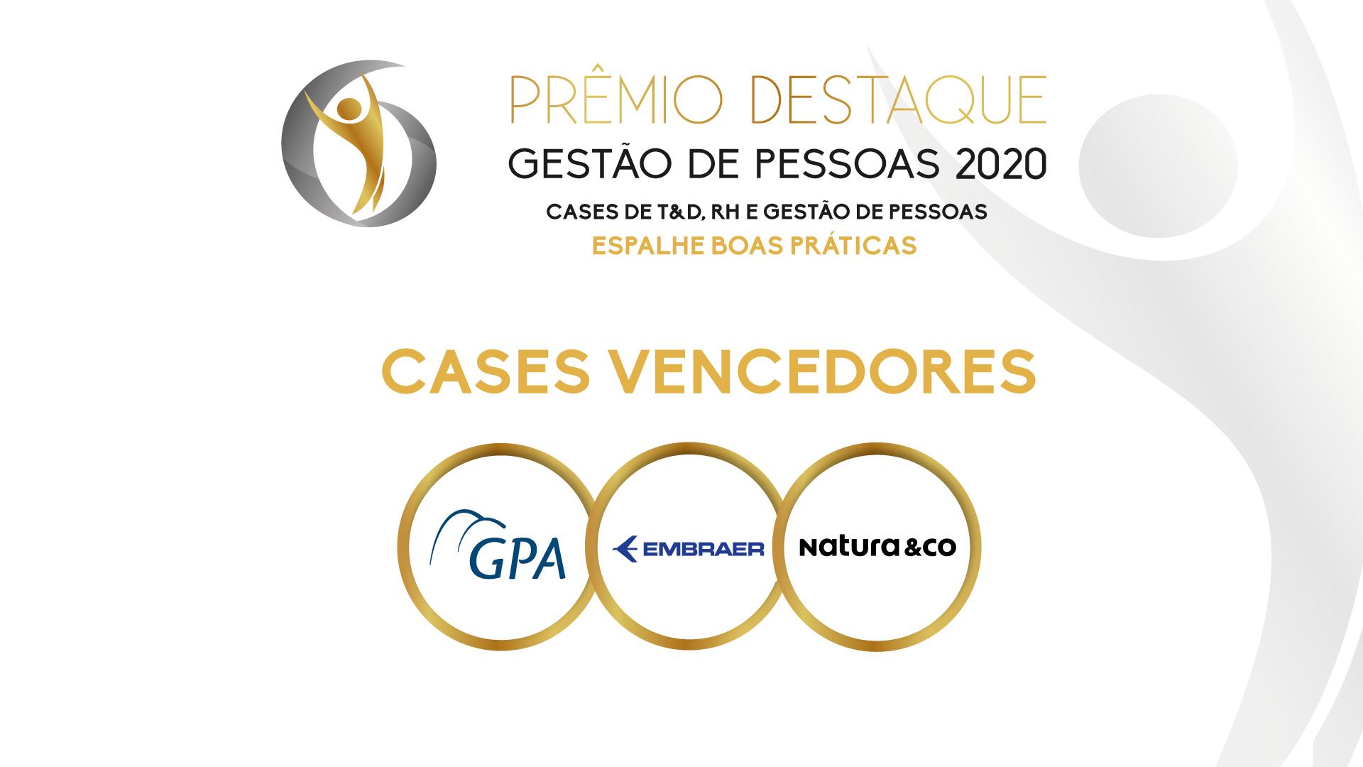 Parabéns aos ganhadores do Prêmio Destaque Gestão de Pessoas 2020!