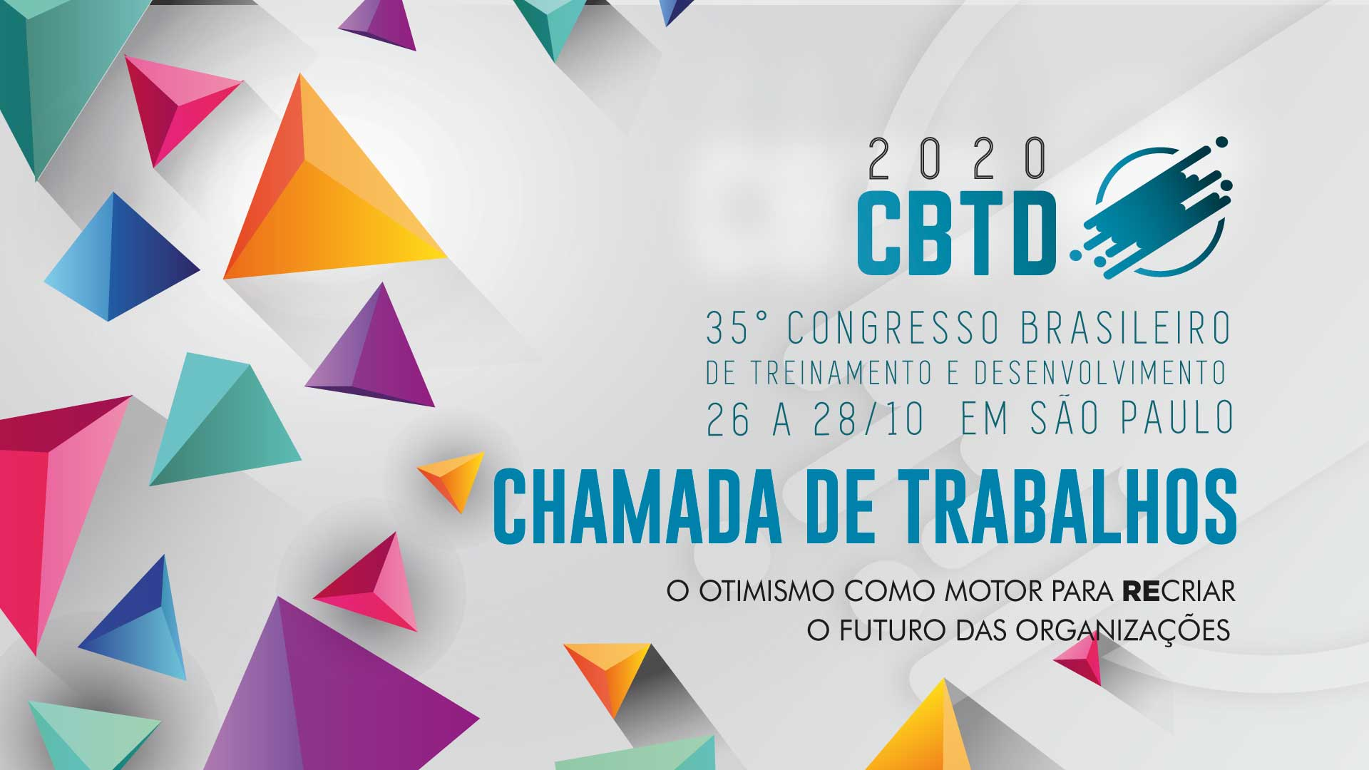 Chamada de trabalhos - CBTD 2020